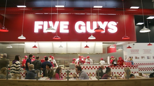 five guys disneyland paris restaurants. Black Bedroom Furniture Sets. Home Design Ideas